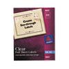 AVE8665 Full-Sheet Inkjet Labels, 8-1/2 x 11, Clear, 25/Pack AVE 8665