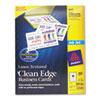 AVE8873 Inkjet Matte Business Cards, 2 x 3 1/2, White, 10/Sheet, 200/Pack AVE 8873