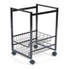 AVT34075 Mobile File Cart w/Sliding Baskets, 15w x 12-7/8d x 20-7/8h, Black AVT 34075