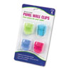 AVT75306 Fabric Panel Wall Clips, Standard Size, Assorted Cool Colors, 4/Pack AVT 75306