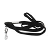 Cotton/nylon lanyard with metal fastener.