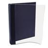 AVTANG120D Vinyl Magazine Binder, 9 1/2w x 11-1/4h, Clear Front Cover, Navy Blue Back AVT ANG120D