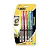 BICB4P51ASST Brite Liner + Highlighter, Chisel Tip, 5/Set BIC B4P51ASST