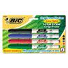 BICGDEP41ASST Great Erase Grip Dry Erase Markers, Fine Point, Assorted, 4/Set BIC GDEP41ASST