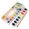 CYO530555 Washable Watercolor Paint, 16 Assorted Colors CYO 530555