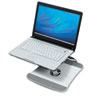 Laptop cooling stand with patented wave design, convection cooling fan, USB connectivity and non-slip grip pads.