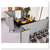 GreatDivide™ Wall System fabric starter set with three wall panels and two end panels.