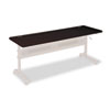 BLT89880 Flipper Training Table Top, Rectangular, 72w x 24d, Mahogany BLT 89880