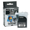 Brother LC31BK Ink, 500 Page-Yield, Black