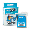 Brother LC31C Ink, 400 Page-Yield, Cyan