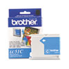 Brother LC51C Innobella Ink, 400 Page-Yield, Cyan