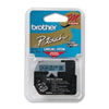 BRTM521 M Series Tape Cartridge for P-Touch Labelers, 3/8w, Black on Blue BRT M521