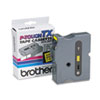 BRTTX6511 TX Tape Cartridge for PT-8000, PT-PC, PT-30/35, 1w, Black on Yellow BRT TX6511