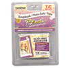 Brother TZ Photo-Safe Tape Cartridge for P-Touch Labelers, 1/2w, Black on Clear