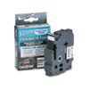 BRTTZEFX241 TZe Flexible Tape Cartridge for P-Touch Labelers, 3/4in x 26.2ft, Black on White BRT TZEFX241