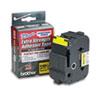 BRTTZES661 TZ Extra-Strength Adhesive Laminated Labeling Tape, 1-1/2w, Black on Yellow BRT TZES661
