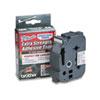 BRTTZES951 TZ Extra-Strength Adhesive Laminated Labeling Tape, 1w, Black on Matte Silver BRT TZES951