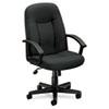 BSXVL601VA19 VL601 Series Managerial Mid-Back Swivel/Tilt Chair, Charcoal Fabric/Black Frame BSX VL601VA19