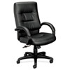 BSXVL691SP11 VL690 Series Executive High-Back Leather Chair, Black Leather BSX VL691SP11