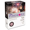CASMP2201CHE FIREWORX Colored Paper, 20lb, 8-1/2 x 11, Cherry Charge, 500 Sheets/Ream CAS MP2201CHE