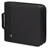CLGBNB208 CD/DVD Expandable Binder, Holds 208 Disks, Black CLG BNB208