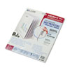 CLI05557 Polypropylene Sheet Protectors with Index Tabs, Clear Tabs, 11 x 8 1/2, 5/ST CLI 05557