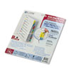 CLI05580 Poly Sheet Protectors with Index Tabs, Assorted Color Tabs, 11 x 8 1/2, 8/ST CLI 05580