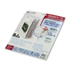 CLI05587 Polypropylene Sheet Protectors with Index Tabs, Clear Tabs, 11 x 8 1/2, 8/ST CLI 05587