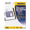 CLI61027 Super Capacity Sheet Protector with Tuck-In Flap, Letter Size, 10/Pack CLI 61027