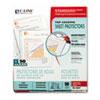 CLI62037 Standard Weight Polypropylene Sheet Protector, Clear, 11 x 8 1/2, 50/BX CLI 62037