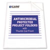 CLI62137 Antimicrobial Project Folders, Jacket, Letter, Polypropylene, Clear, 25/Box CLI 62137