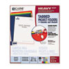 CLI62140 Heavyweight Tabbed Jacket Project Folders, Letter, Poly, Assorted Colors, 25/Box CLI 62140