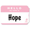 C-Line® Self-Adhesive Pink Ribbon Name Badges | www.SelectOfficeProducts.com