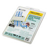 CLI92365 Self-Adhesive Inkjet/Laser Printer Name Badges, 3-3/8 x 2-1/3, Blue, 200/Box CLI 92365