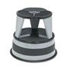 CRA100182 Original Kik-Step Steel Step Stool,15 5/8 dia x 14h,300lb Duty Rating, Warm Gray CRA 100182