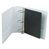 CRD17810 Vinyl ClearVue XtraValue Slant D-Ring Presentation Binder, 4