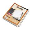 CRD60533 QuickStep OneStep Bulk Index System, Title: 1-5, Letter, White, 24 Sets/Box CRD 60533