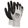 CRW9673L Economy Foam Nitrile Gloves, Large, Gray/Black, Dozen CRW 9673L