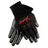 CRWN9674M Ninja X Bi-Polymer Coated Gloves, Medium, Black CRW N9674M