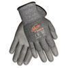 CRWN9677L Ninja Force Polyurethane Coated Gloves, Large, Gray CRW N9677L
