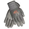 CRWN9677M Ninja Force Polyurethane Coated Gloves, Medium, Gray CRW N9677M