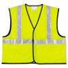 CRWVCL2SLXL2 Class 2 Safety Vest, Fluorescent Lime w/Silver Stripe, Polyester, 2X CRW VCL2SLXL2