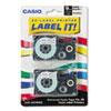 CSOXR9WE2S Tape Cassettes for KL Label Makers, 9mm x 26ft, Black on White, 2/Pack CSO XR9WE2S