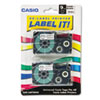 CSOXR9X2S Tape Cassettes for KL Label Makers, 9mm x 26ft, Black on Clear, 2/Pack CSO XR9X2S