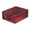 CVR08213 Hardwood Letter Stackable Desk Tray, Mahogany CVR 08213