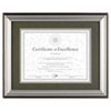 DAX Charcoal/Nickel-Tone Document Frame