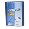 DBL220307 Vinyl DuraClip Report Cover, Letter, Holds 30 Pages, Clear/Dark Blue DBL 220307