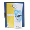 DBL221407 Vinyl DuraClip Report Cover, Letter, Holds 60 Pages, Clear/Dark Blue DBL 221407