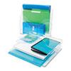 DEF390201 Three-Tier Document Organizer, Plastic, 13 3/8 x 3 1/2 x 11 1/2, Clear DEF 390201
