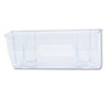 Plastic wall file pocket with super-strong, scratch-resistant magnets for mounting on metal.